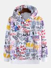 Prix de gros Mens Loose Fashion Loose Graffiti Letter Print Sweatshirt