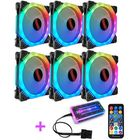 Recommandé Coolmoon 6PCS 5V 3Pin Adjustable RGB LED Light Computer Case PC Cooling Fan with Remote