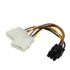 Promotion PC Power Supply Dual 4Pin to 6Pin PCI-E Graphics Card SATA Power Cable Splitter Cable Power Supply Cable