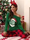 Discount pas cher Christmas Women Print Causal Suits