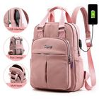 Acheter au meilleur prix Women Nylon Waterproof Casual Patchwork Backpack With USB Charging Port For Outdoor School