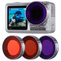 Ulanzi OA-9 Purple Red Magenta Dive Lens Filter Kit for DJI Osmo Action Sports Camera