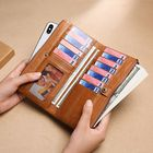 Promotion Men Genuine Leather RFID Blocking Vinatge Purse Phone Bag