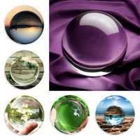 100mm Clear Round Glass Artificial Natural Quartz Magic Healing Crystal Ball Decorations