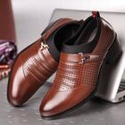 Best Price Breathable Hollow Out Business Casual Office Leather Oxfords