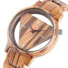 Prix de gros Deffrun Transparent Creative Wooden Wrist Watch