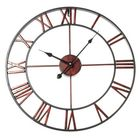 Promotion Classic Large Metal Wrought Iron Wall Clock Roman Numerals Steampunk Home Decor