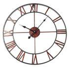 Meilleurs prix Classic Large Metal Wrought Iron Wall Clock Roman Numerals Steampunk Home Decor