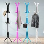 Offres Flash 12 Hooks Metal Coat Stand Rack Clothes Hat Storage Hanger Holder Home Tree Entryway