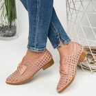 Acheter au meilleur prix Plus Size Women Casual Butterfly Knot Hollow White Loafers