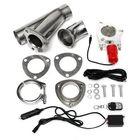 Meilleurs prix Electric Exhaust Valves Catback Downpipe Systems Kit Remote Intelligent E-Cut Muffler