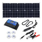 Bon prix 100W 18V MonocrystalineSolar Panel Dual 12V/5V DC USB Charger Kit with 10A Solar Controller & Cables