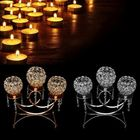 Offres Flash 3 Arms Crystal Votive Candle Tealight Holder Wedding Table Centerpieces Candlestick Candelabra Decor