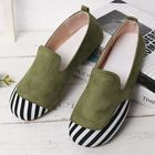 Discount pas cher Women Casual Suede Stitching Slip On Flats