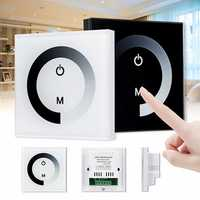 DC 12V/24V Sensitive Touch Switch Panel LED Light Dimmer Controller Wall Mounted Switch