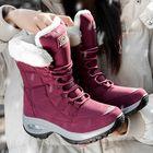 Meilleurs prix Women Slip Resistant Plush Lining Warm Snow Boots