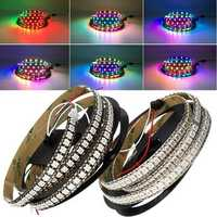 DC5V 2M WS2812B 144LED/M 12MM Width IP20 White/Black Board Individual Addressable RGB LED Strip Light