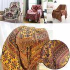 Meilleurs prix Cotton Knitted Blankets Throw Tribal Bohemian Ethnic Sofa Bedding Home Decor