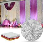 Les plus populaires 300x130cm Sparkle Sequin Table Cloth Curtain For Valentine's Day Weeding Decorations