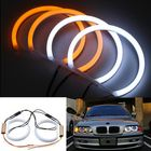 Meilleur prix 131mm Cotton Light White Amber Angel Eye Halo Ring DRL For BMW E36 E38 E39 e46 Car Lights