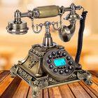 Recommandé Bronze Retro Vintage Antique Telephone Push Button Dial Desk Phone Room Decor Feature Phone