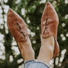Meilleurs prix Women Large Size Hollow Out Comfy Pointed Toe Spring Flats