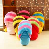 Cute Plush Slipper Shape Squeaky Toy Puppy Chew Play Toy Sound Pet Supplies for Dogs Pet Toys