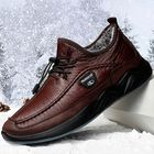 Les plus populaires Winter Warm Plush Lining Non Slip Casual Leather Flats
