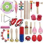 Bon prix 22 Pieces Set Orff Musical Instruments Hand Percussion Musical Toy for Kids Music Learning/KTV Party Playing