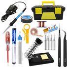 Meilleurs prix 60W 110V 220V Soldering Iron Kit Adjustable Temperature Electrical Welding Solder Tool Set US EU Plug