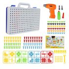 Discount pas cher Topacc 240Pcs Children Fun Electric Drill Puzzle Toys Disassemble Screw Nut Assembly Combination Toys