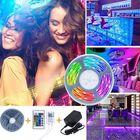 Meilleurs prix Bakeey 5M 10M IP66 5050 RGB WiFi APP Smart LED Strip Light with IR Remote Controller Work With Alexa Google