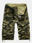 Meilleurs prix Summer Mens Cotton Camouflage Beach Shorts Big Pockets Army Style Cargo Shorts