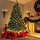 Meilleurs prix 2.1m/7FT Christmas Tree Artificial Pine Christmas Tree Holiday Party Decorate Green Tree DIY Christmas Tree Kit
