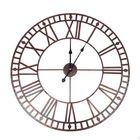 Acheter 80CM Decorative Premium VintageStyle Wall Metal Clock Large Roman Number Open Face Indoor&Outdoor Clock