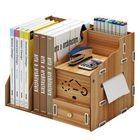 Discount pas cher Multi-function Desktop Organizer Wooden Storage Rack Office File Tray Wood Display Shelf with Tissue Holder