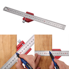 Discount pas cher Drillpro CX300-2 Adjustable 45/90 Degree Metric and Inch Line Scribe Ruler Positioning Measuring Ruler 300mm Marking Ruler Woodworking Tool