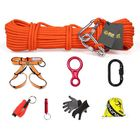 Recommandé XINDA 8 In 1 Outdoor Survival Kits 10m Climbing Rope Safety Belt Carabiner Speed-drop Ring Window Breaker Non-slip Gloves Whistle Hiking Fire Escape Tools
