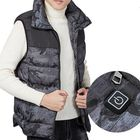 Meilleurs prix Electric Vest Heated Cloth Jacket USB Warm Heating Pad Body Winter Warmer Gray