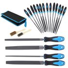 Bon prix 20Pcs Needle File Set Jeweler Wood Carving Steel Hand Tools Kit DIY with Bag