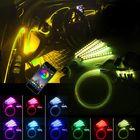 Meilleurs prix LED Car Interior Floor Lights Strip RGB 6M EL Optical Fiber Decoration Strip Light Lamp bluetooth App Control