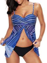 Printed Front Open Wireless Swimwear Suits