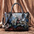 Bon prix Brenice Women Genuine Leather Butterfly Pattern Evening Bag