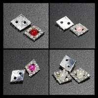 3D Glitter Pearl & Crystal Rhinestone Diamond-Shaped Nail Art Stickers