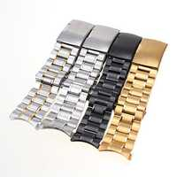 Stainless Steel Strap Side Push Button Buckle Watch Band