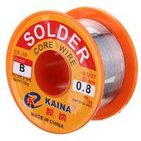 0.8mm 50g Rosin Core Solder 63/37 Tin Lead Flux Soldering Welder Iron Wire Reel