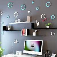 8 Colors 5Pcs Circles Creative Stereo Removable 3D DIY Wall Stickers