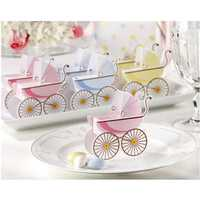 Korean Wedding Favor Baby Shower Baby Stroller Candy Box