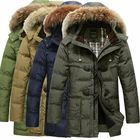 Meilleurs prix Mens Quality Horn Buckle Hooded Warm Long Down Jacket Coat