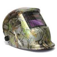 Adjustable Auto Darkening Solar Welding Helmet Mask Forest Camo